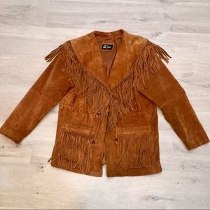 Comint Coat Leather Fringed Rockabilly Biker M